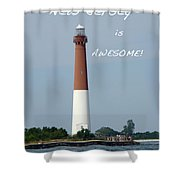 Barnegat Lighthouse Nj - Old Barney Shower Curtain