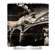 Barnes Rail Bridge Shower Curtain