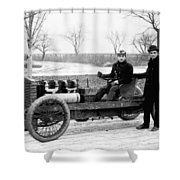 Barney Oldfield And Henry Ford Shower Curtain