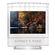 Barney's Pond Poster Shower Curtain