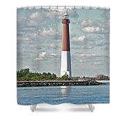 Barngat Lighthouse - Long Beach Island Nj Shower Curtain