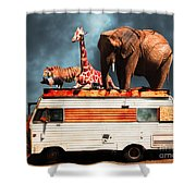 Barnum And Bailey Goes On A Road Trip 5d22705 Shower Curtain