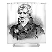 Baron Georges Cuvier (1769-1832) Shower Curtain