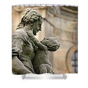 Baroque Statue Depicting Motherhood Shower Curtain