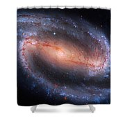 Barred Spiral Galaxy Ngc 1300 Shower Curtain by Don Hammond