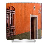 Barred Window, Mexico Shower Curtain