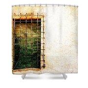Barred Window Shower Curtain