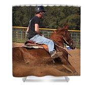 Barrel Racing Shower Curtain