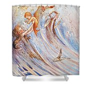 Barrie: Peter Pan Shower Curtain