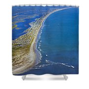 Barrier Island Aerial Shower Curtain