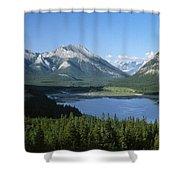 Barrier Lake Shower Curtain