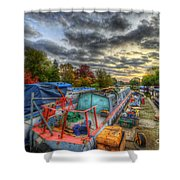 Barrow Boats Shower Curtain