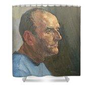 Barry, 2008 Oil On Canvas Shower Curtain
