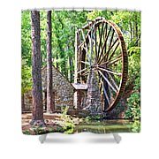 Berry College's Old Mill - Square Shower Curtain