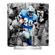 Barry Sanders Breaking Out Shower Curtain