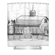 Barrytown Barn Shower Curtain