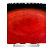 Barsoom Mars The Red Planet Shower Curtain