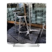Barstools - Before The Night Begins Shower Curtain
