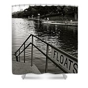 Barton Springs Pool In Austin Shower Curtain by Kristina Deane