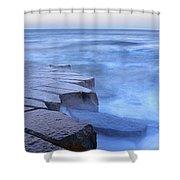 Basalt Rock, Berwick Upon Tweed Shower Curtain