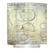 Baseball Patent Panoramic Shower Curtain