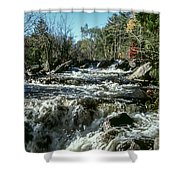 Base Of Ragged Falls Shower Curtain