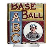 Baseball Abc Shower Curtain by McLoughlin Bros