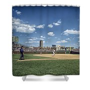 Baseball At Wrigley Field In The 1990s Shower Curtain