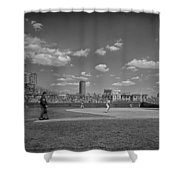 Baseball At Wrigley In The 1990s Shower Curtain