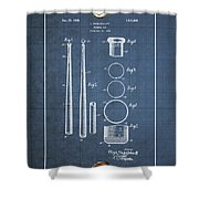 Baseball Bat By Lloyd Middlekauff - Vintage Patent Blueprint Shower Curtain