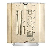 Baseball Bat By Lloyd Middlekauff - Vintage Patent Document Shower Curtain