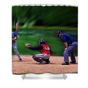 Baseball Batter Up Shower Curtain