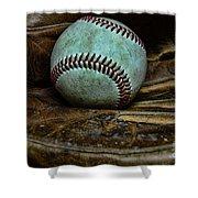 Baseball Broken In Shower Curtain by Paul Ward