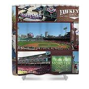 Baseball Collage Shower Curtain
