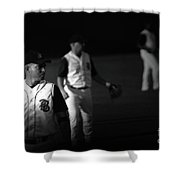 Baseball Days Shower Curtain