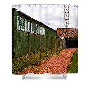 Baseball Field Bull Durham Sign Shower Curtain