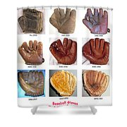 Baseball Glove Evolution Shower Curtain