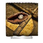 Baseball Home Plate Shower Curtain