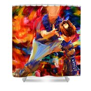Baseball II Shower Curtain