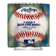 Baseball Iv Shower Curtain