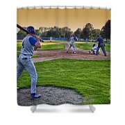 Baseball On Deck Circle Shower Curtain