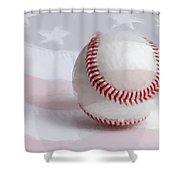 Baseball - Painterly Shower Curtain by Heidi Smith