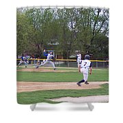 Baseball Pitcher The Delivery Shower Curtain
