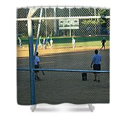 Baseball Practice Shower Curtain