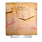 Baseball Treasures Shower Curtain