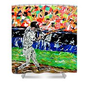 Bases Loaded  Shower Curtain by Mark Moore