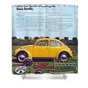 Basic Beetle  Shower Curtain