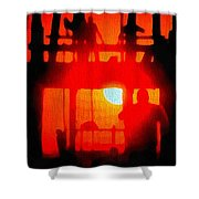 Basic Training Obstacle Course At Sunset Shower Curtain