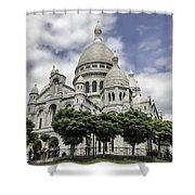Basilica Of The Sacred Heart Paris France Shower Curtain