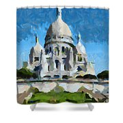 Basilica Sacred Heart- Paris Shower Curtain